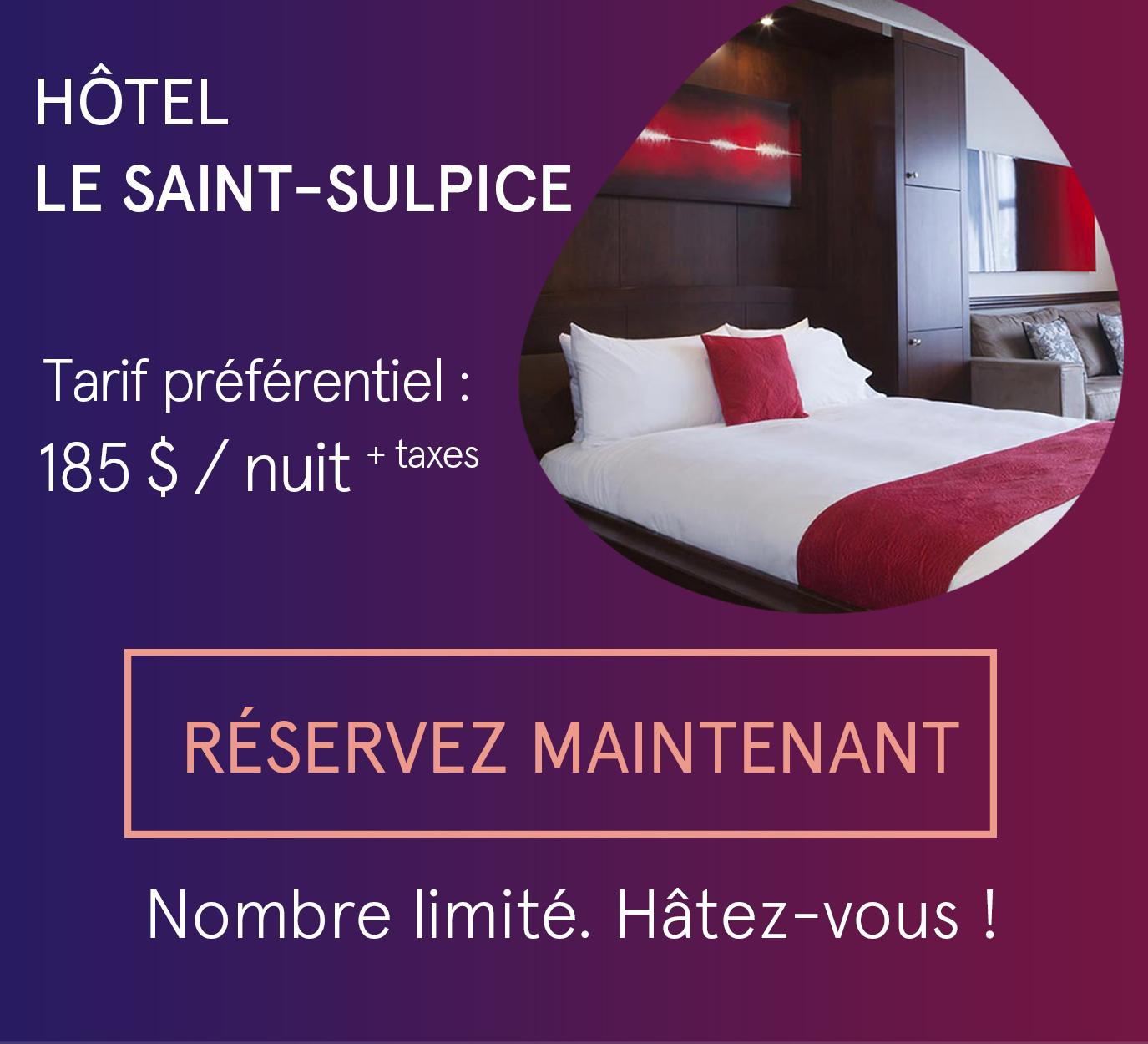 Hôtel Saint-Sulpice - tarif préférentiel