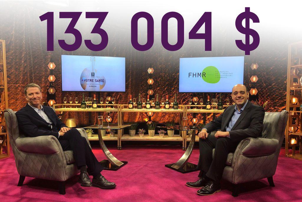 133 004$ dévoilement À Votre Santé!