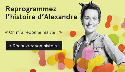 Visuel Reprogrammez l'histoire, photo d'Alexandra, patiente de l'Hôpital Maisonneuve-Rosemont