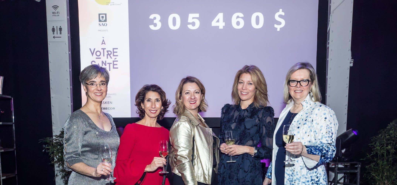 Dévoilement : Johanne Claveau, Sylvie Cordeau, Sandrine Bourlet, Élaine Léger et Lucie Drapeau