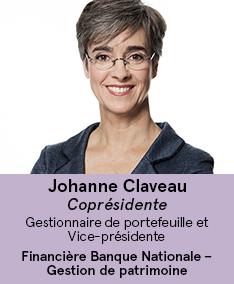 Johanne Claveau - coprésidente du comité À Votre Santé!