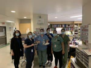 Photo du personnel de l'Hôpital Maisonneuve-Rosemont a eu droit à une Fêtes des mères chocolatées