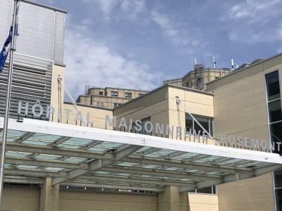 Photo de l'entrée pincipale de l'Hôpital Maisonneuve-Rosemont