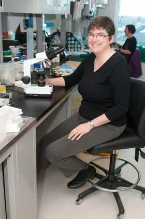 Photo de Sylvie Lesage, responsable de l'unité de recherche Immunogénétique cellulaire au Centre de recherche de l'Hôpital Maisonneuve-Rosemont