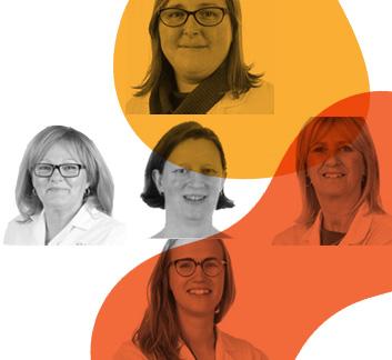 Nathalie Lachapelle, Marie-Pier Lecours-Cyr, Myriam Hébert, Anne-Marie Châtelain et Édith Cartier_infirmières recherche myélome multiple