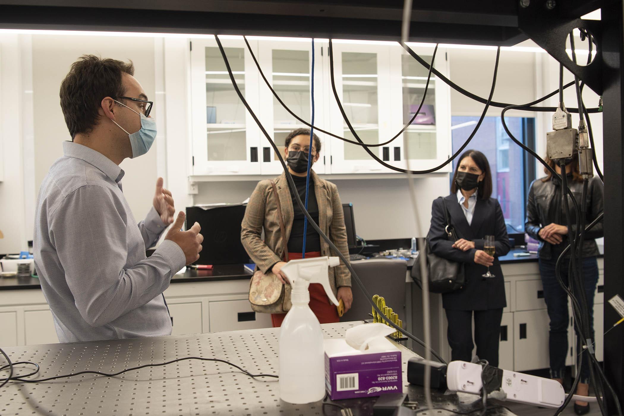 Visite du laboratoire de Dr Christos Boutopoulos